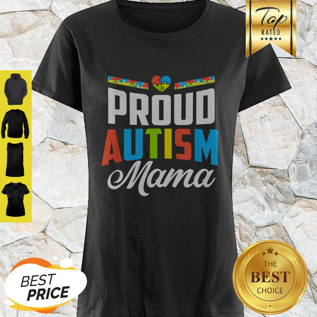 Official Proud Autism Mama Awareness Support Shirt
