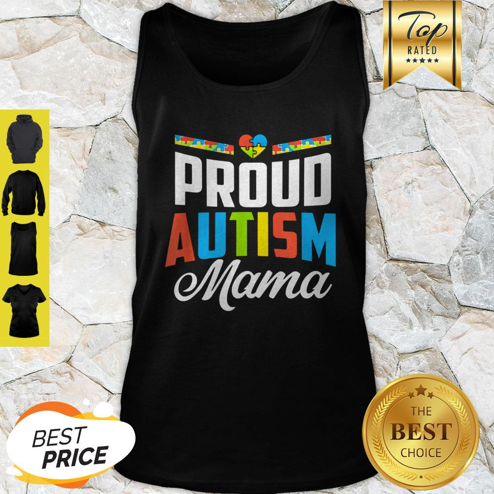 Official Proud Autism Mama Awareness Support Tank Top