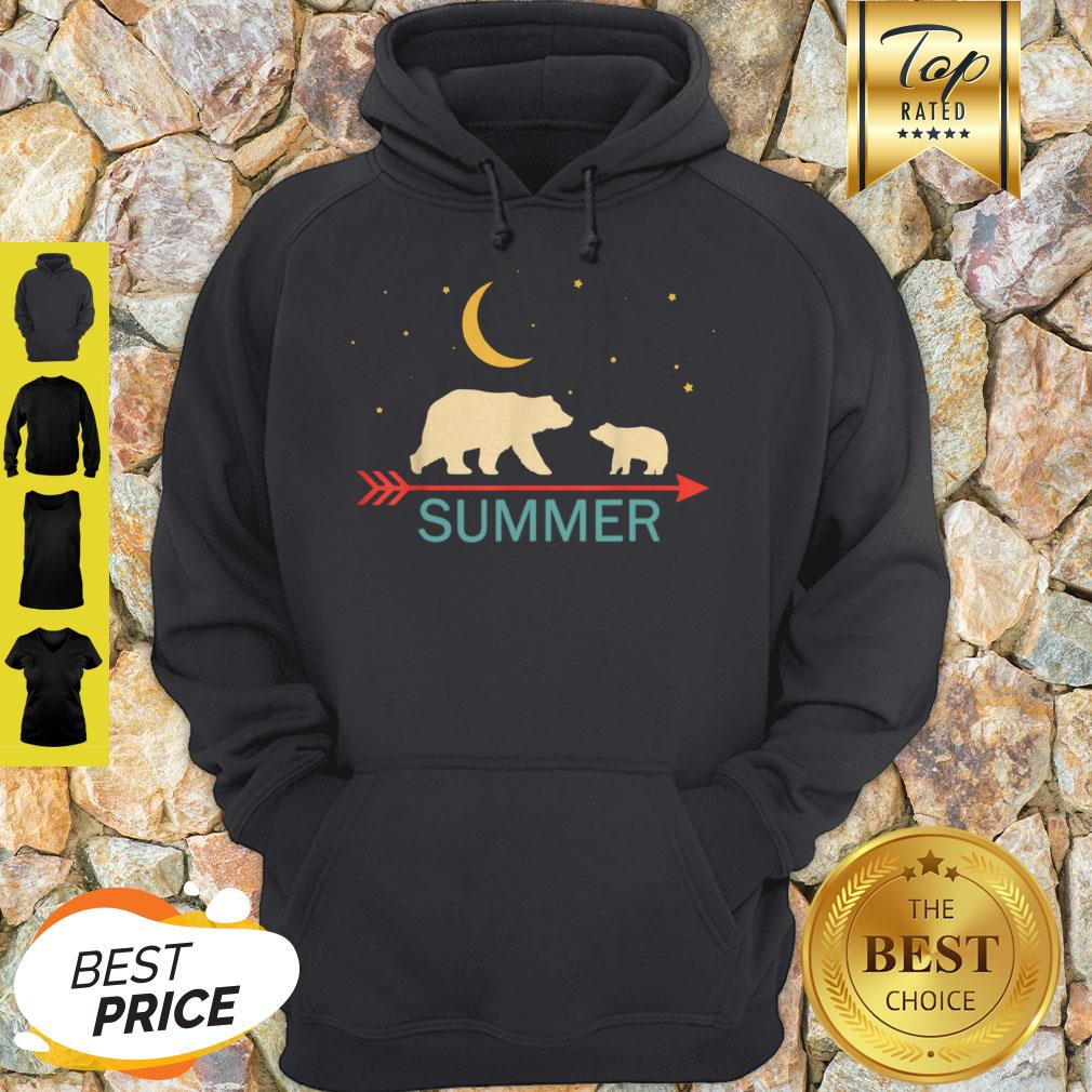 Official Summer Name Gift Personalized Mama Bear With 1 Cub Hoodie