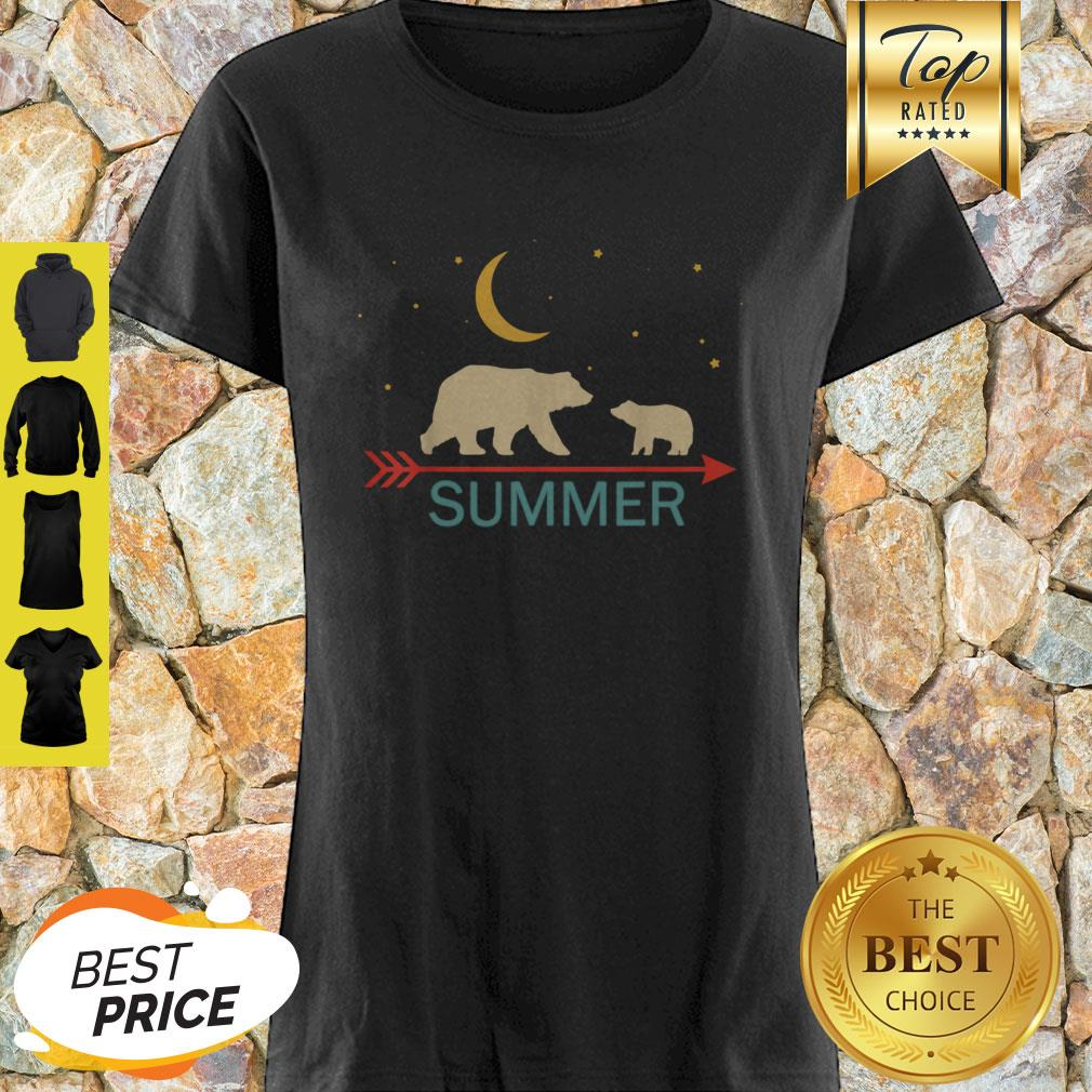 Official Summer Name Gift Personalized Mama Bear With 1 Cub Shirt