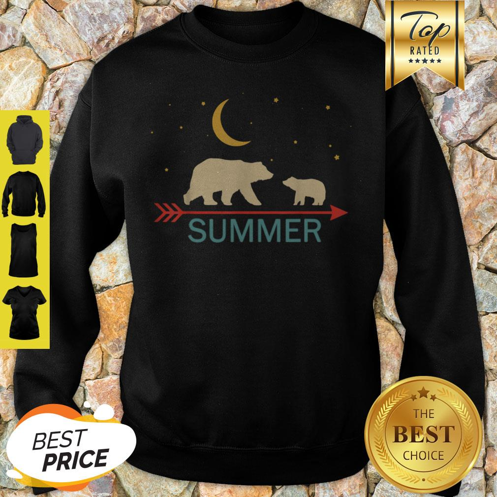 Official Summer Name Gift Personalized Mama Bear With 1 Cub Sweatshirt