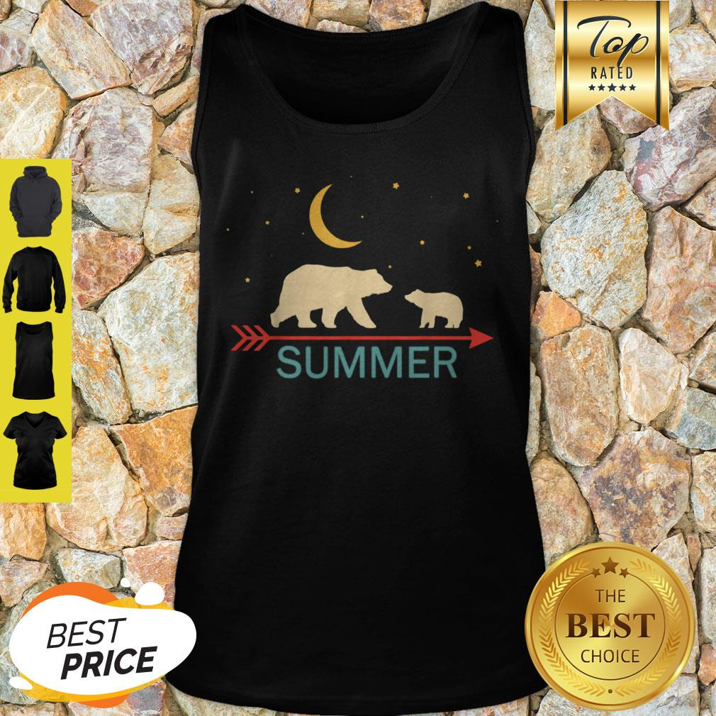 Official Summer Name Gift Personalized Mama Bear With 1 Cub Tank Top