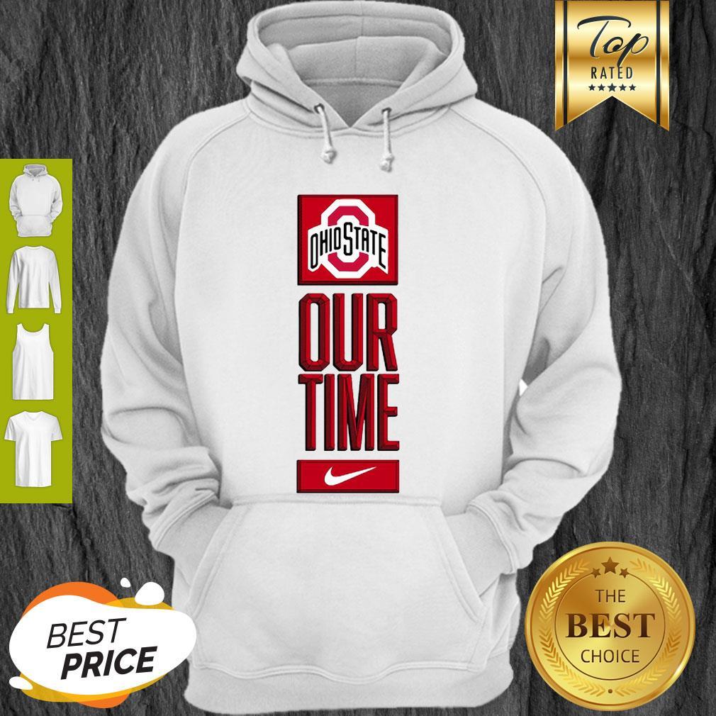 Ohio State Buckeyes Logo Basketball Our Time 2020 Hoodie