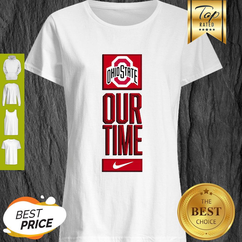 Ohio State Buckeyes Logo Basketball Our Time 2020 Shirt