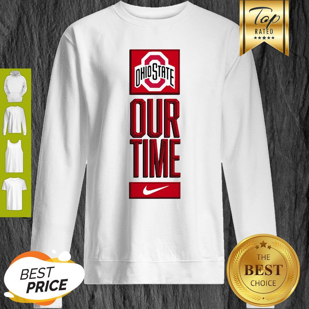 Ohio State Buckeyes Logo Basketball Our Time 2020 Sweatshirt