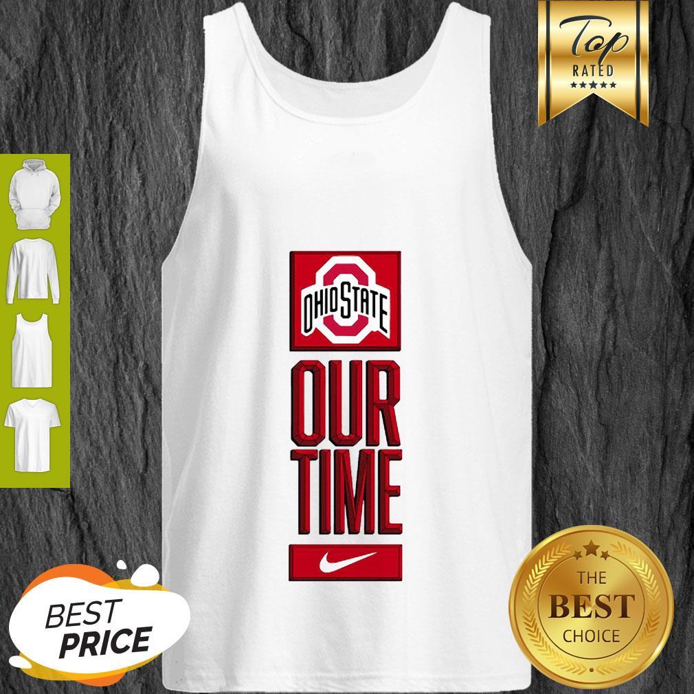 Ohio State Buckeyes Logo Basketball Our Time 2020 Tank Top