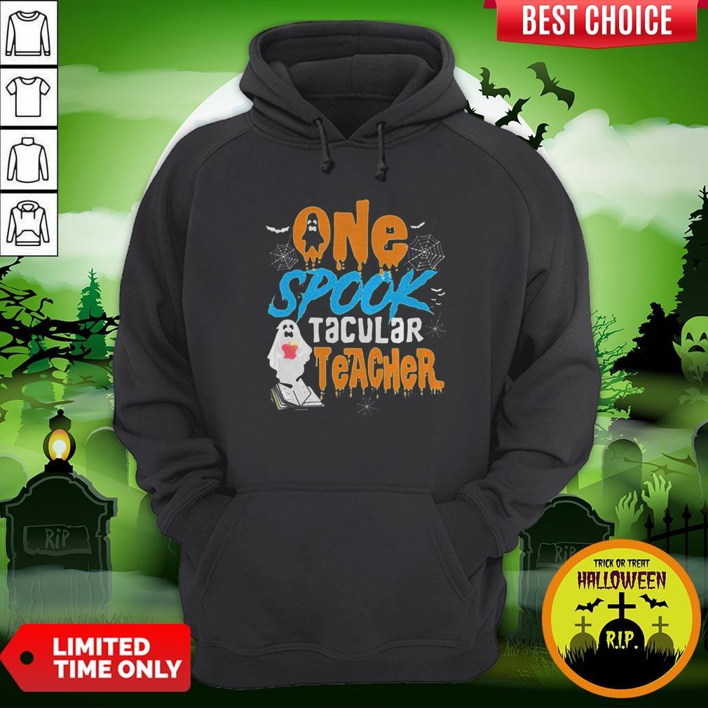 One Spooktacular Teacher Halloween Ghost School Hoodie