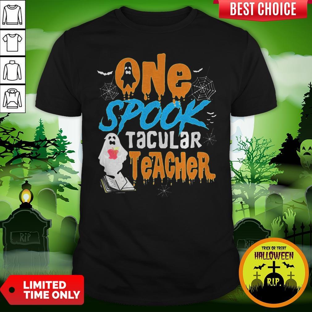 One Spooktacular Teacher Halloween Ghost School shirt