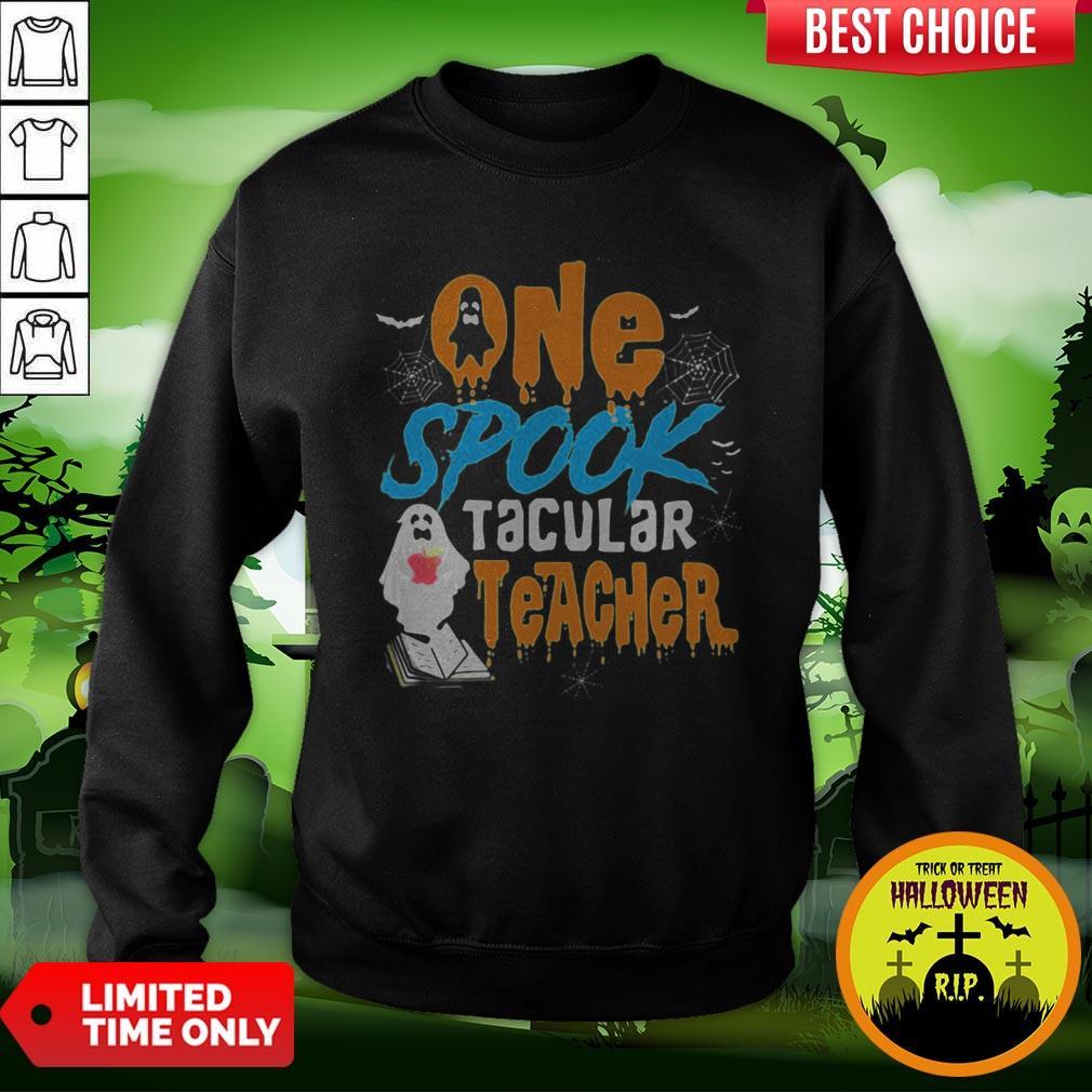 One Spooktacular Teacher Halloween Ghost School Sweatshirt