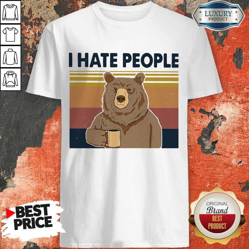 Perfect I Hate People Bear Vintage Shirt