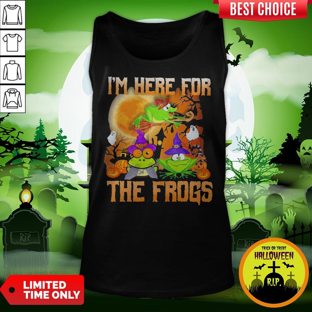 Perfect I'm Here For The Frogs Halloween Tank Top