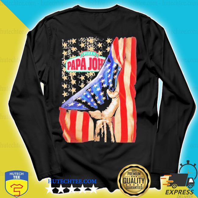 Pizza papa john american flag independence s longsleeve