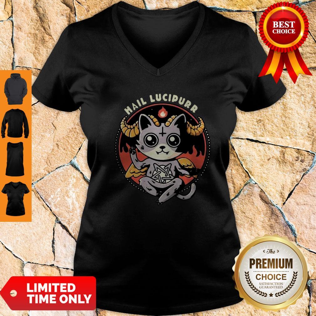 Premium Satan Cat Hail Lucipurr V-neck