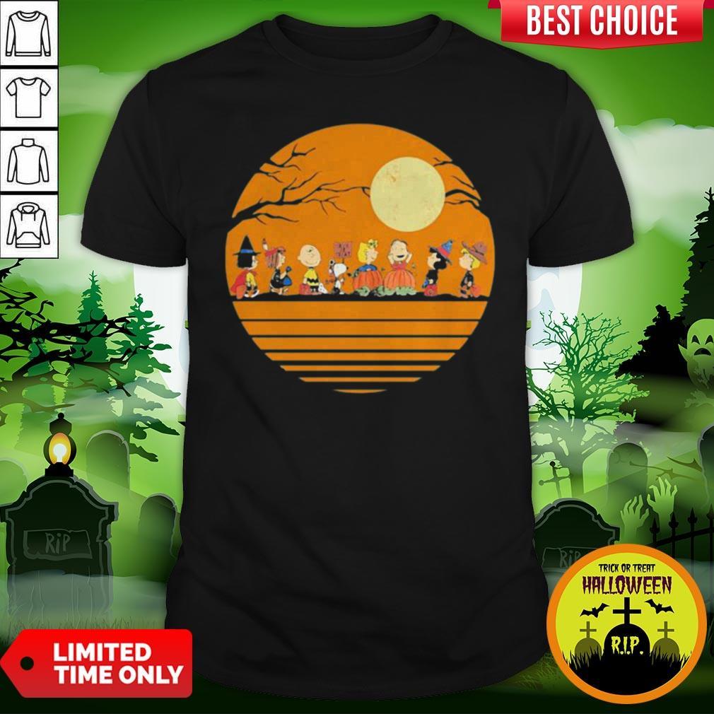 Pro Halloween The Peanuts Moon Vintage Retro Shirt