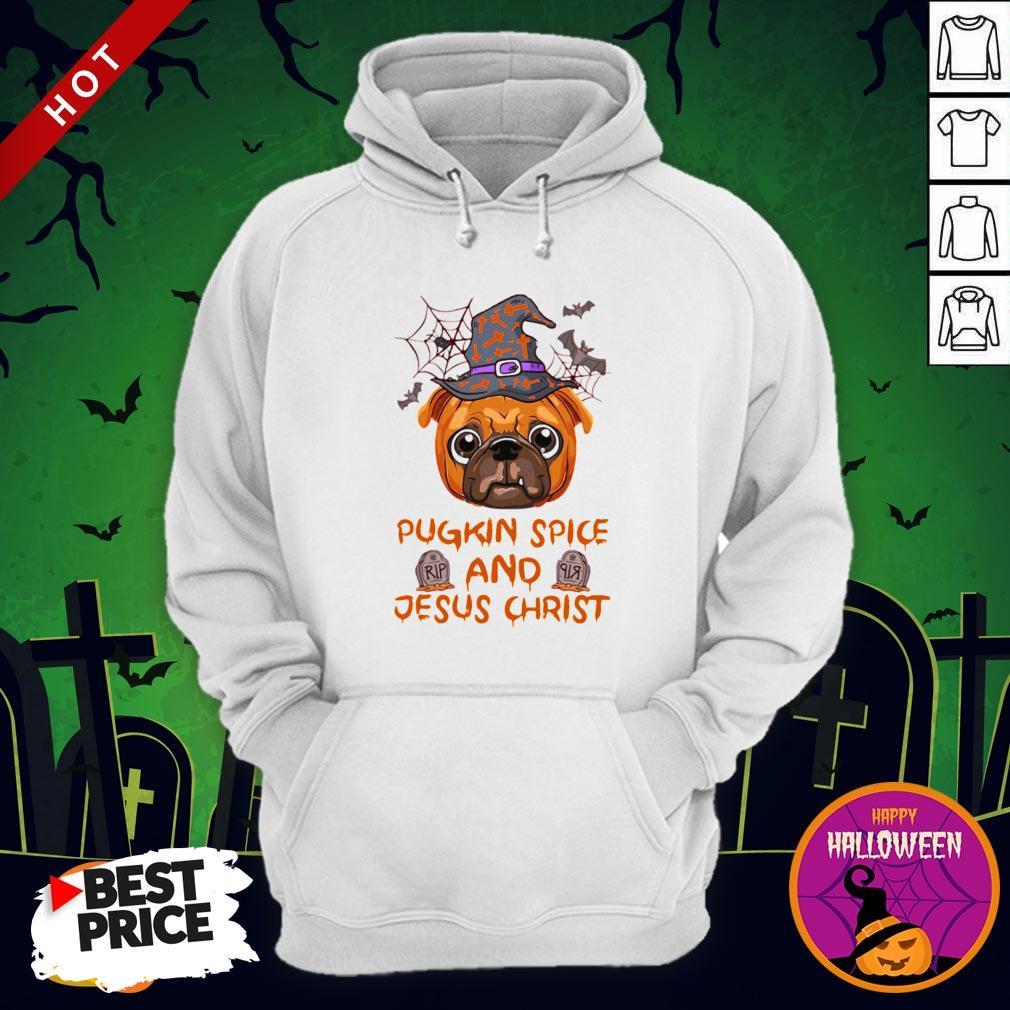Pugkin Pice And Jesus Christ Halloween Hoodie