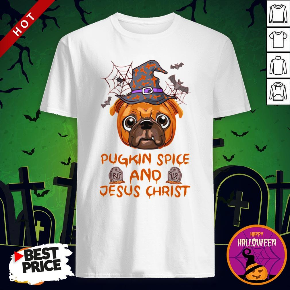 Pugkin Pice And Jesus Christ Halloween Shirt