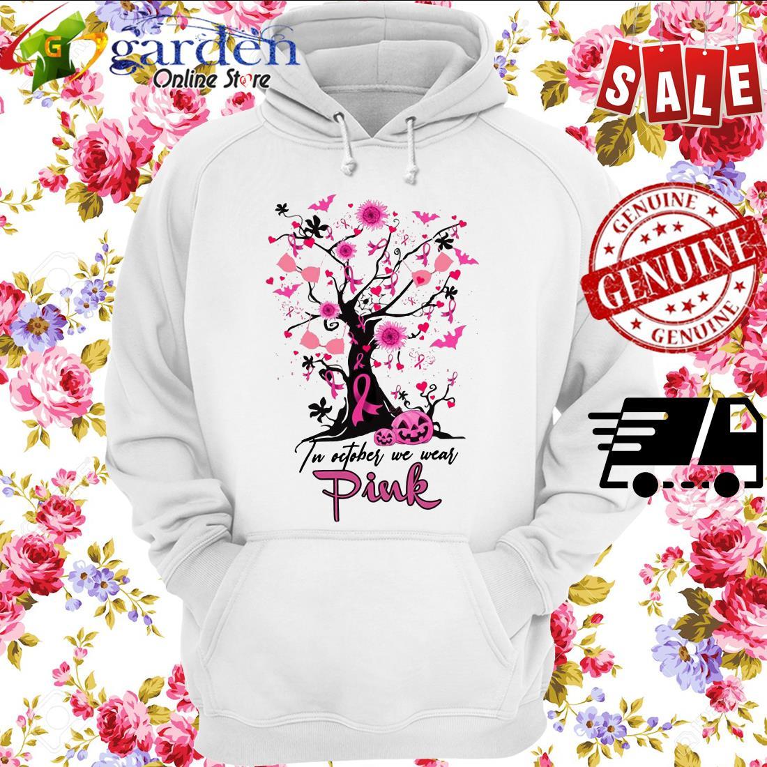 Pumpkin Breast Cancer In October we wear pink Halloween hoodie