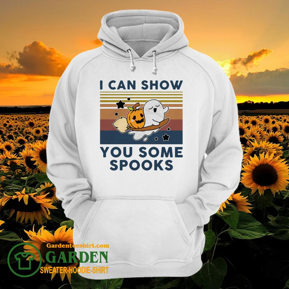 Pumpkin ghost I can show you some spooks vintage hoodie