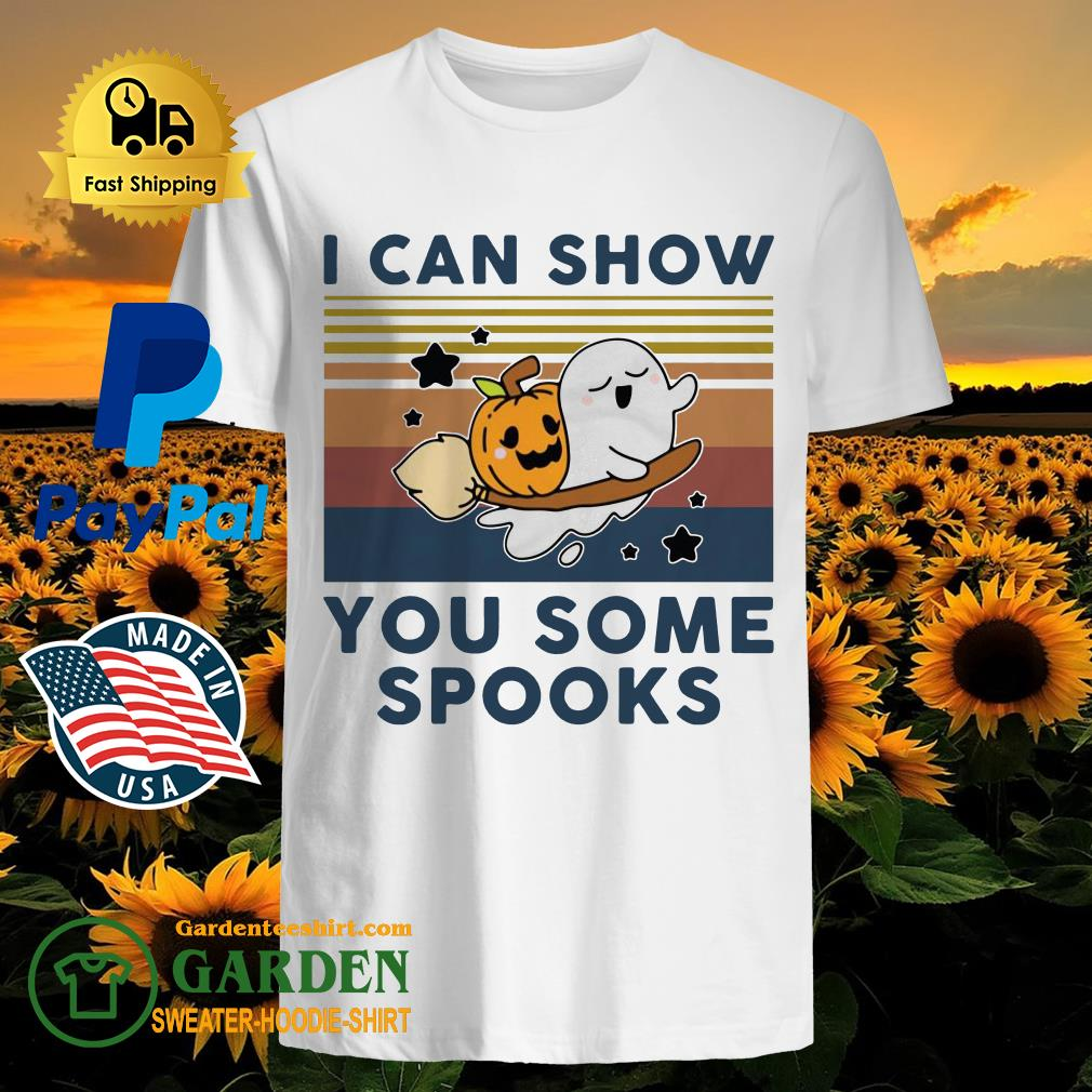 Pumpkin ghost I can show you some spooks vintage shirt