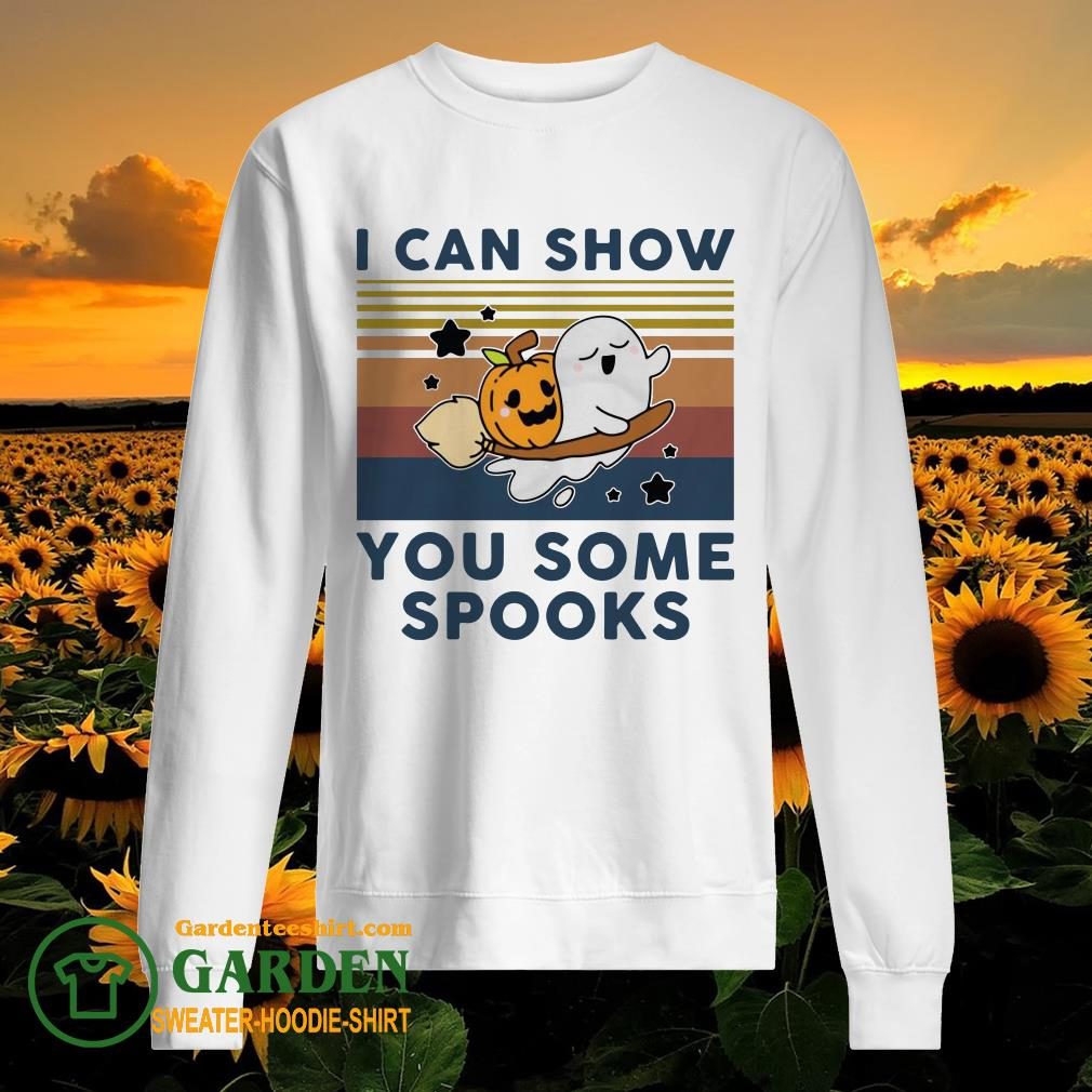 Pumpkin ghost I can show you some spooks vintage sweater