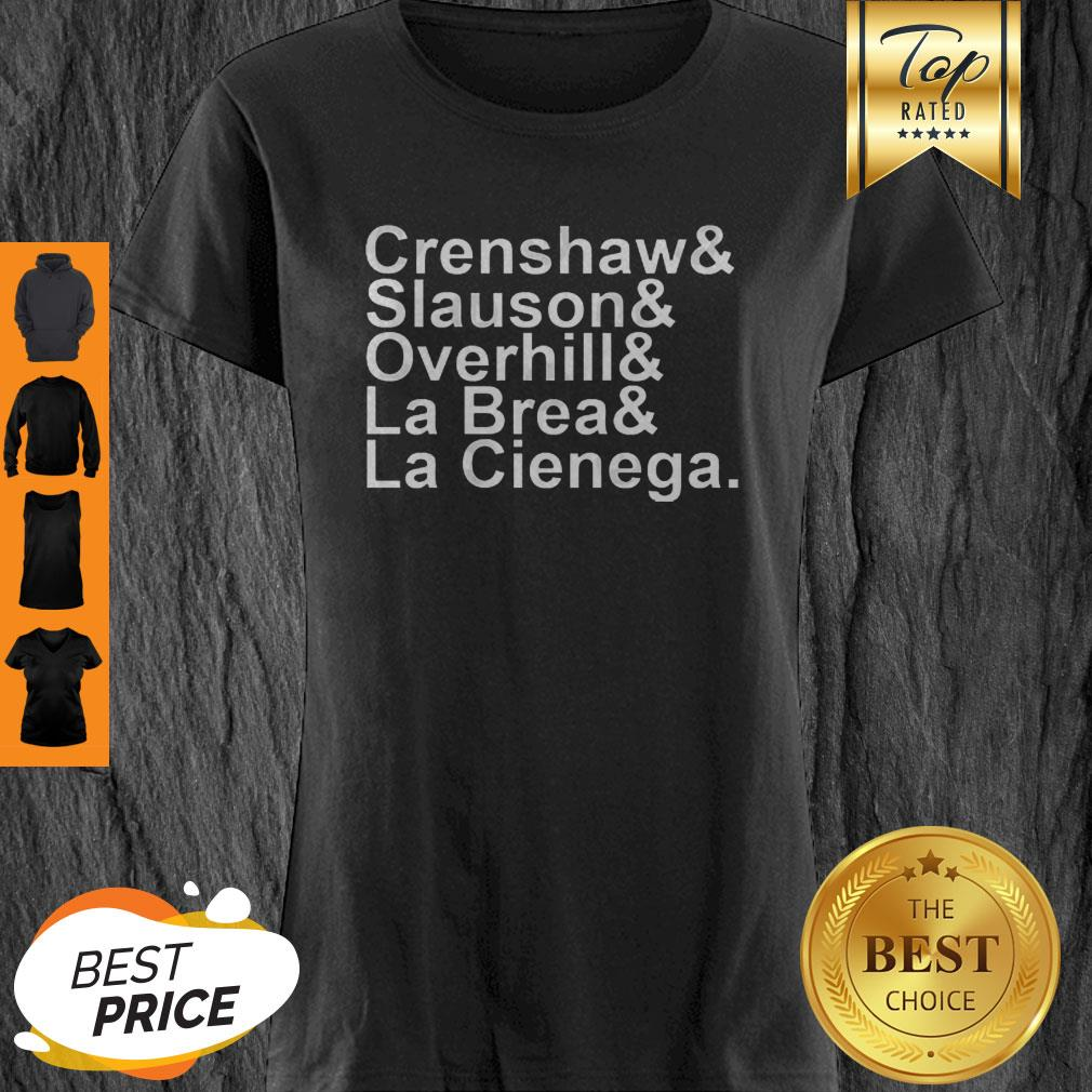 Rip Nipsey Hussle Crenshaw Slauson Overhill La Brea La Cienega Shirt