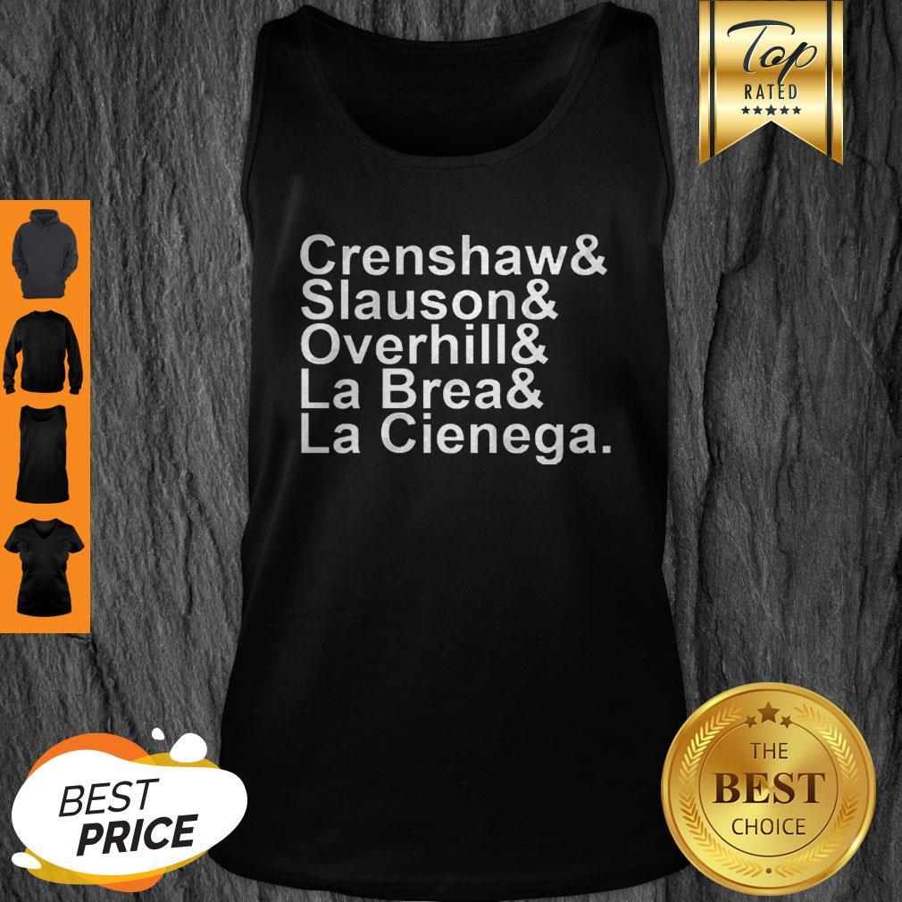 Rip Nipsey Hussle Crenshaw Slauson Overhill La Brea La Cienega Tank Top