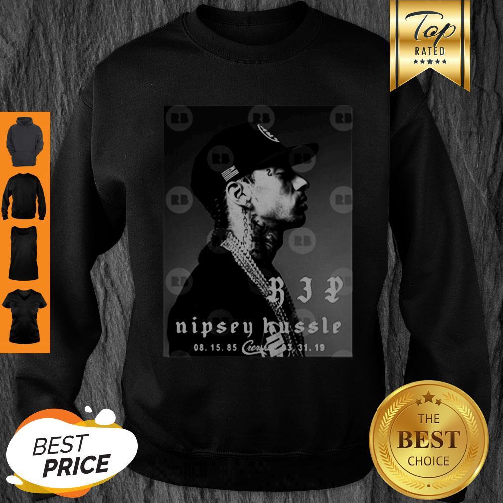 Rip Nipsey Hussle Crenshaw TMC Legend Rapper Sweatshirt