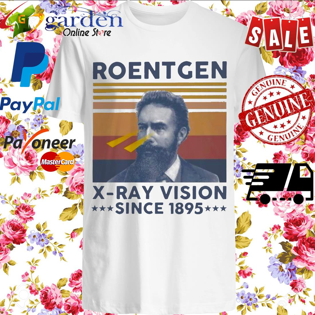 Roentgen X ray vision since 1895 vintage shirt