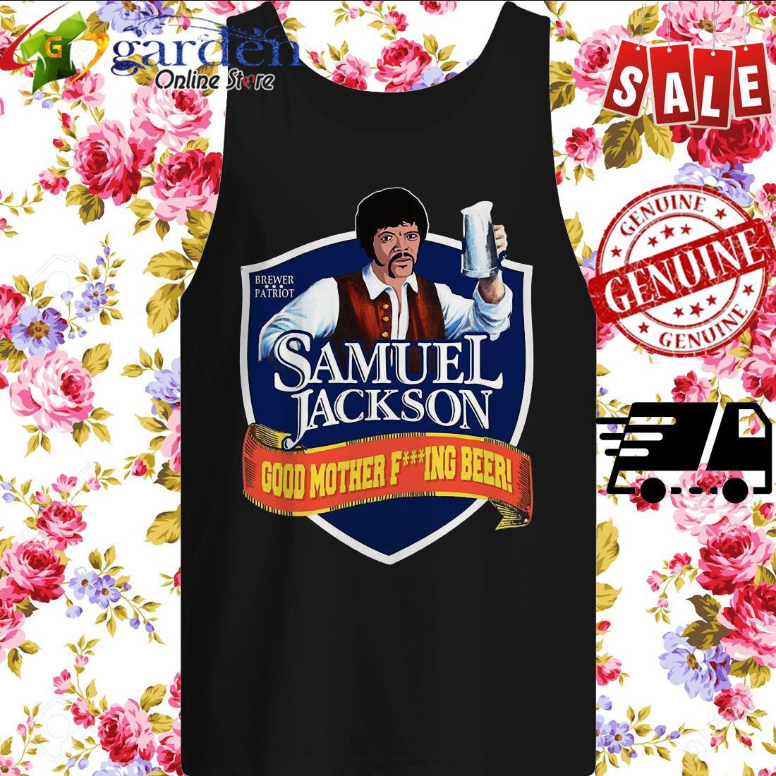 Samuel Jackson good mother fucking Beer tank top