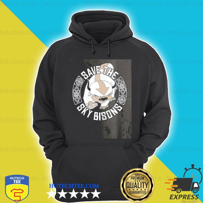 Save the sky bisons with bison head s hoodie