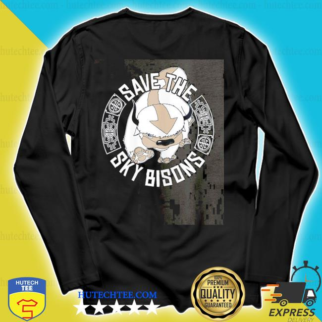 Save the sky bisons with bison head s longsleeve