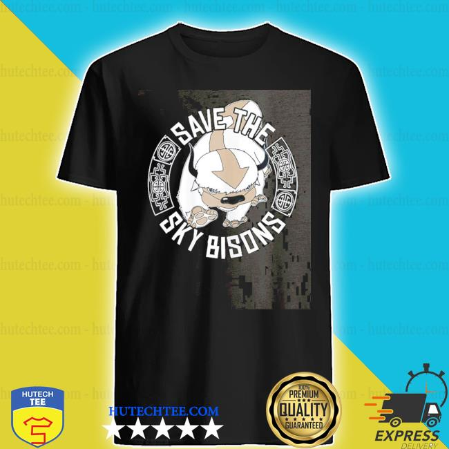 Save the sky bisons with bison head shirt