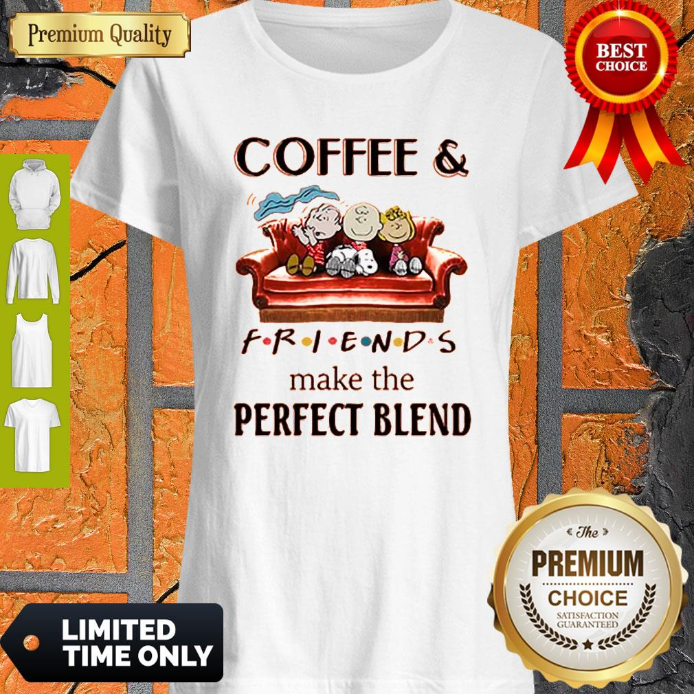 Hot Coffee And Peanuts Friends Make The Perfect Blend Shirt