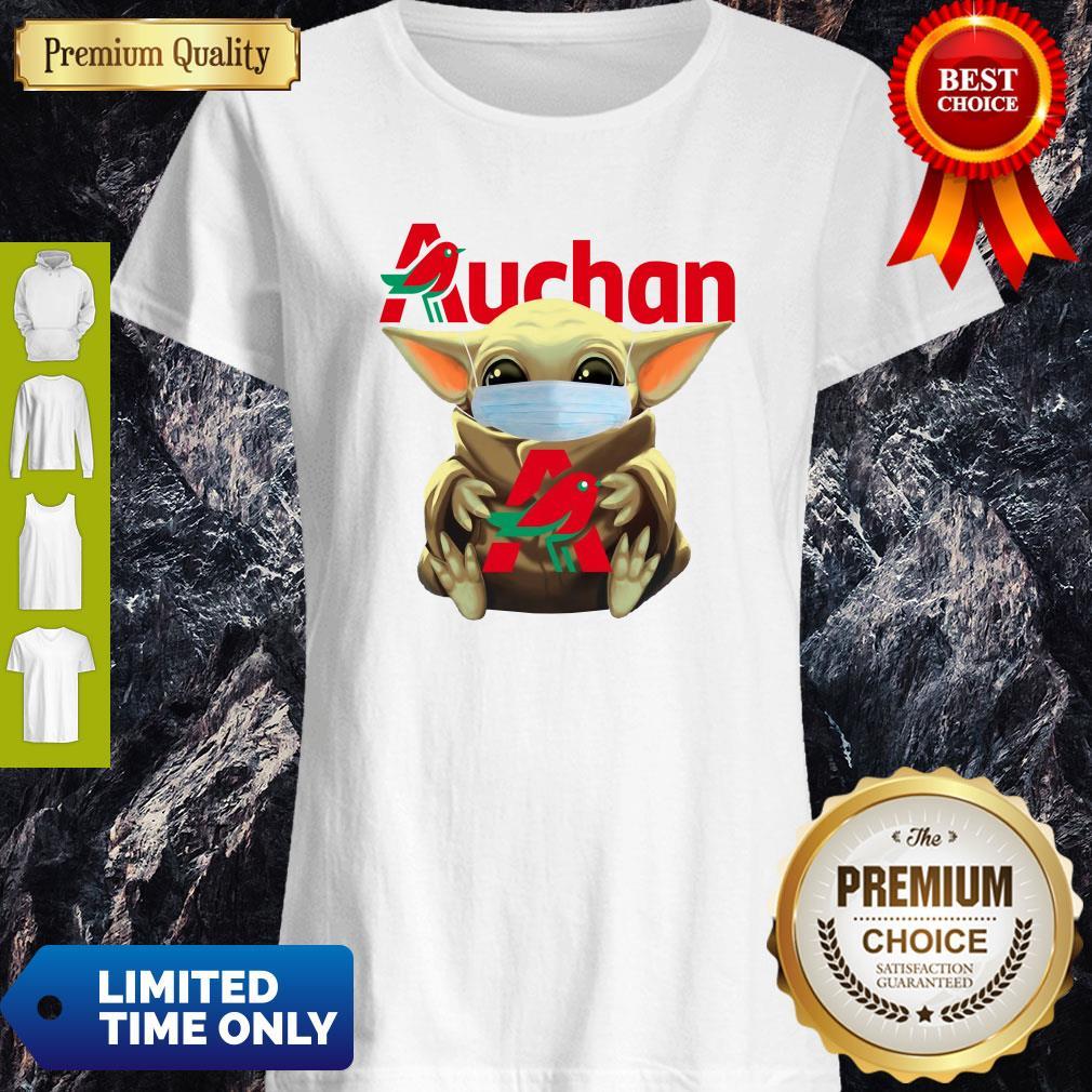 Good Baby Yoda Face Mask Hug Auchan Shirt