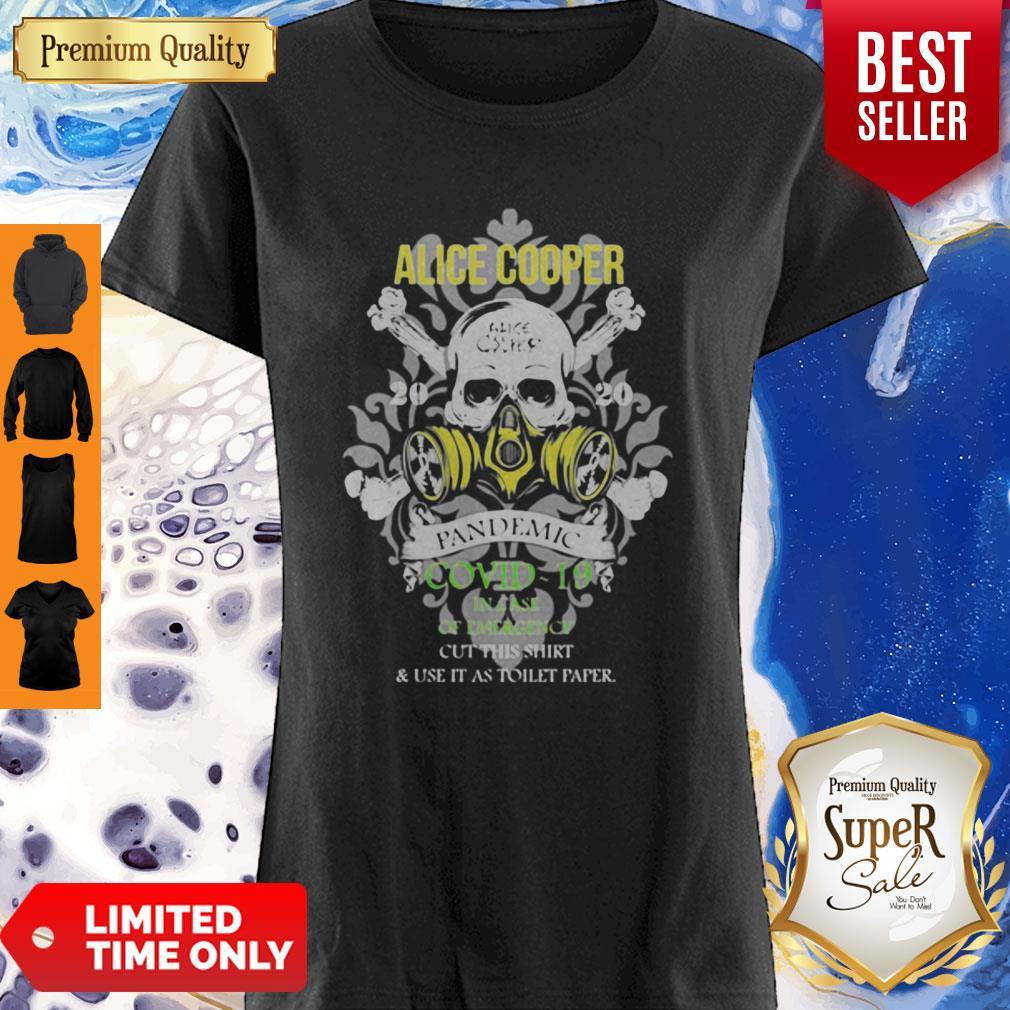 Alice Cooper 2020 Pandemic COVID-19 In Case Of Emergency Version Skull Shirt