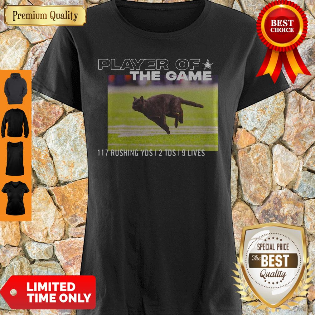 Dallas Cowboys Black Cat Play Of The Game 117 Rushing 2 TDS 9 Lives Shirt