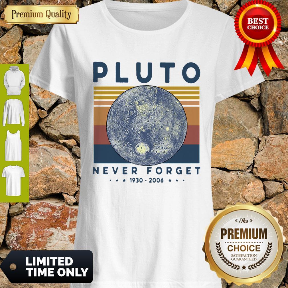 Premium Vintage Pluto Never Forget 1930-2006 Shirt