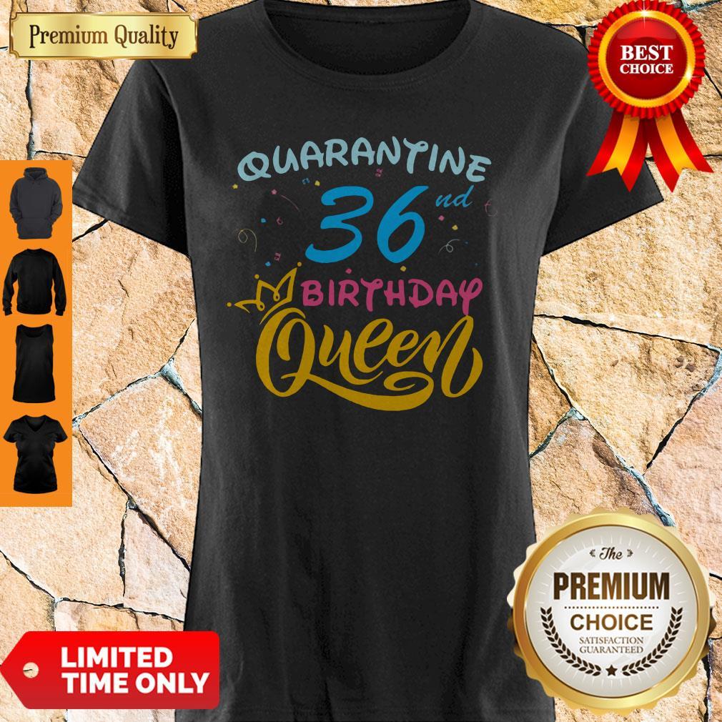 Nice Born In 1978 My 36th Birthday Queen Quarantine Social Distancing Quarantined Birthday 2020 Shirt