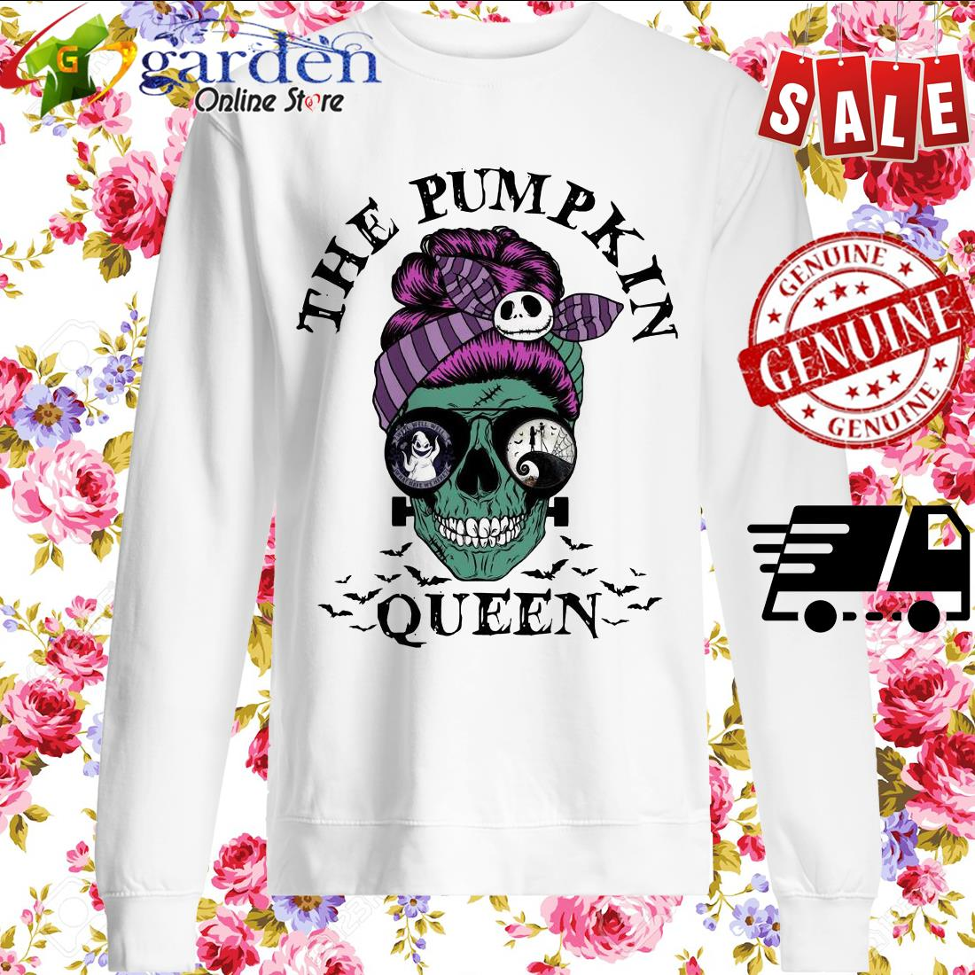 Skull Horror The Pumpkin Queen sweater