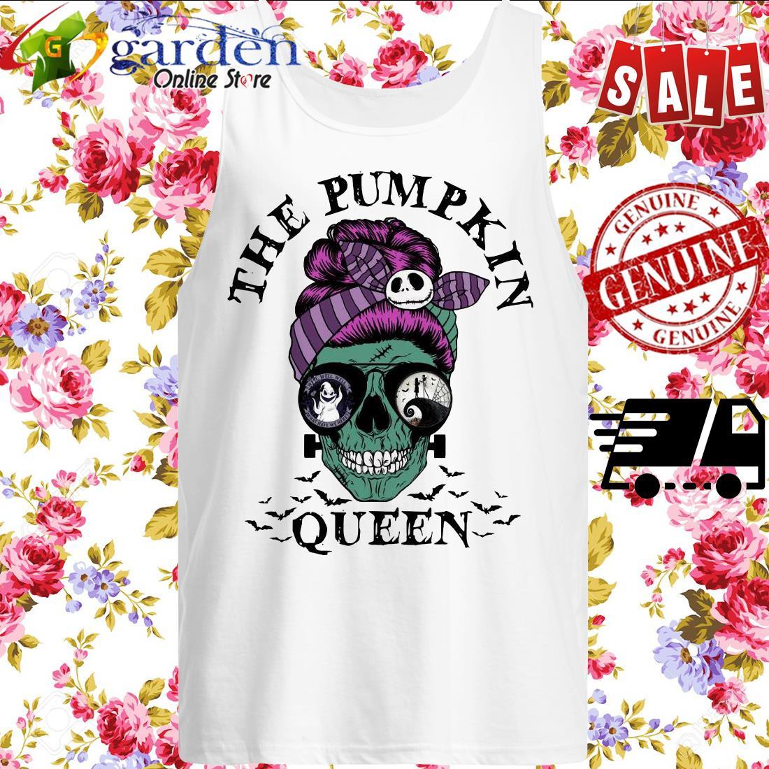 Skull Horror The Pumpkin Queen tank top
