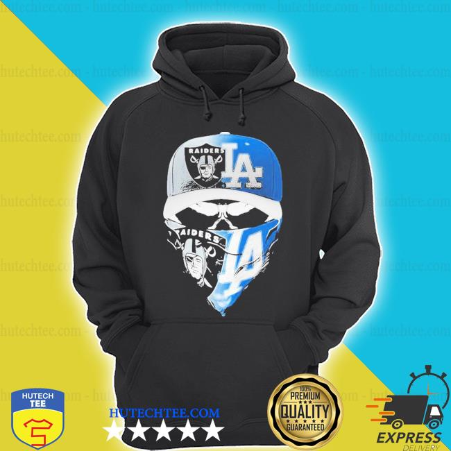 Skull mask oakland raiders and los angeles dodgers s hoodie