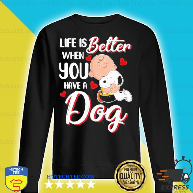 Snoopy and charlie brown life is better when you have a dog hearts s sweater