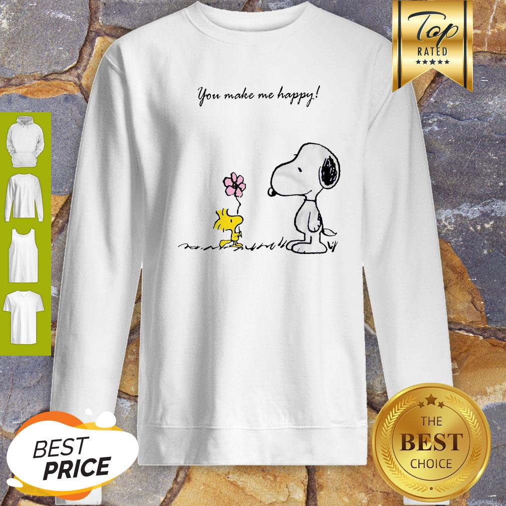 Snoopy And Woodstock You Make Me Happy Sweatshirt