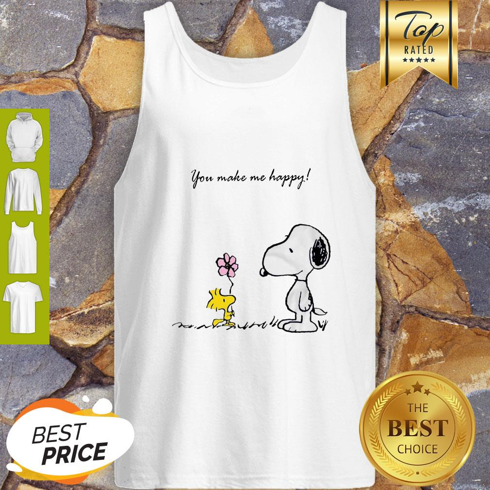 Snoopy And Woodstock You Make Me Happy Tank Top