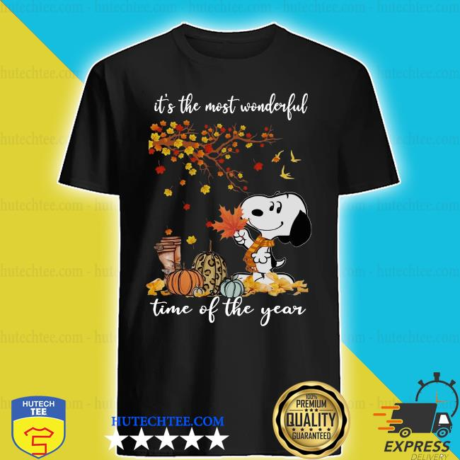 Snoopy It_s the most Wonderful time of the year Fall shirt