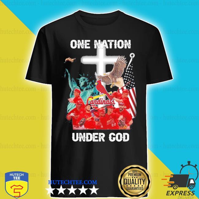 St. louis cardinals one nation under god shirt