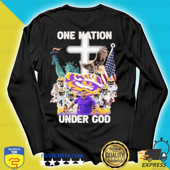 Statue of Liberty American LSU Magnet Tiger one nation under God s longsleeve