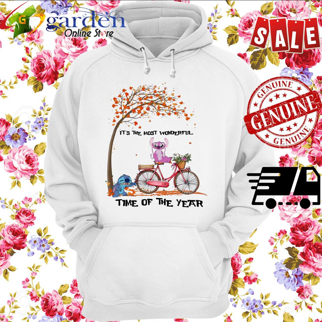 Stitch and angel it's the most wonderful time of the year hoodie