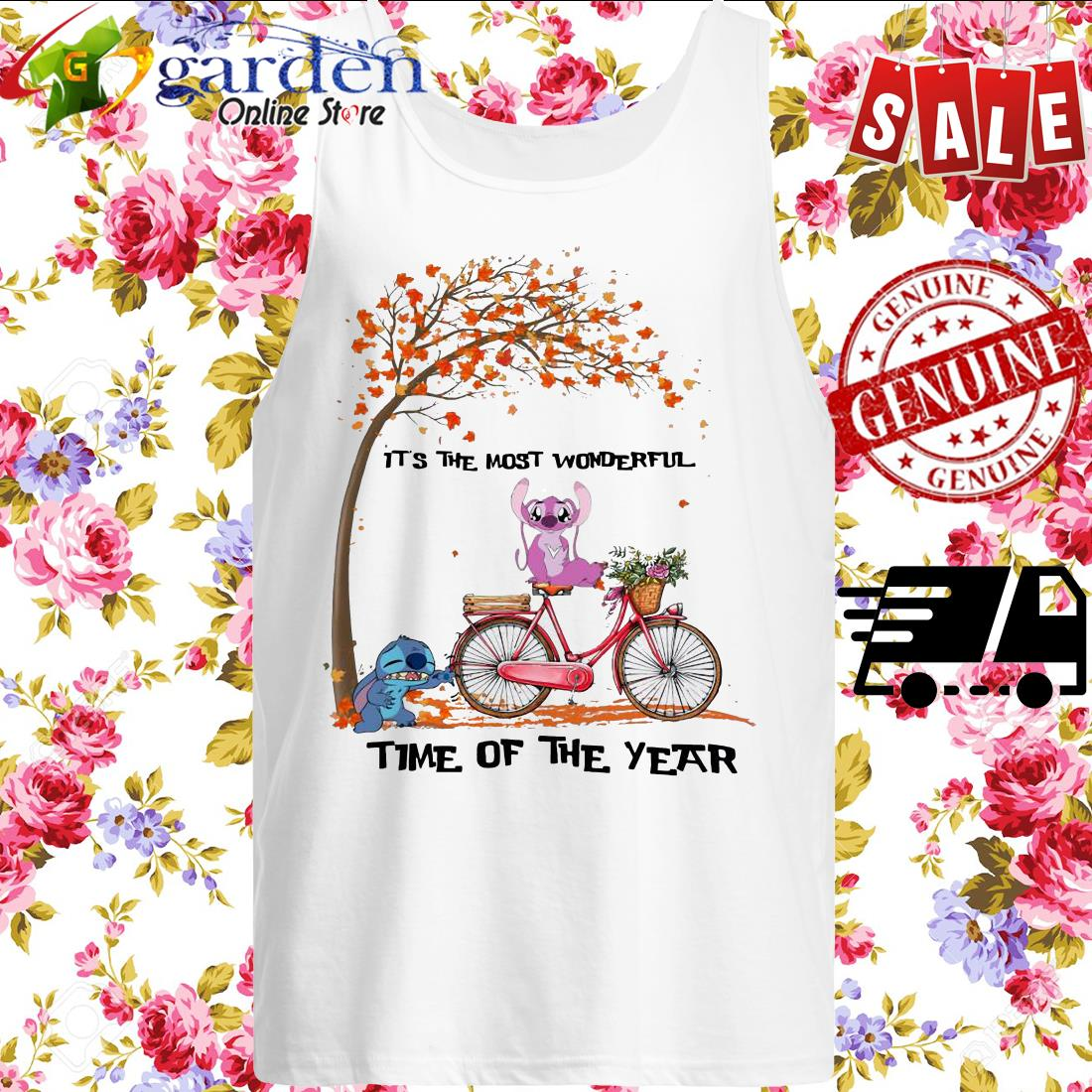 Stitch and angel it's the most wonderful time of the year tank top