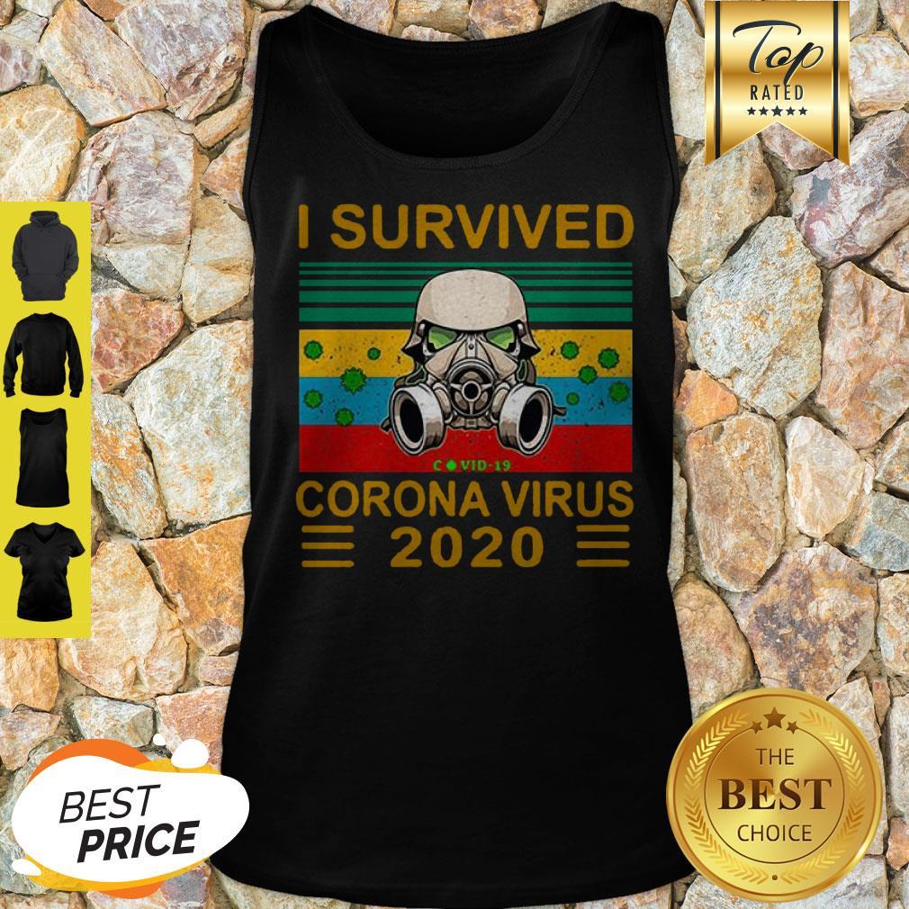 Stormtrooper I Survived Covid-19 2020 Vintage Tank Top